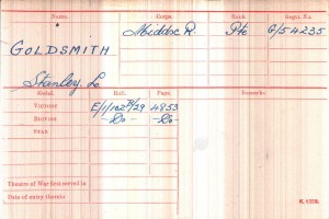 Medal Card.Goldsmith