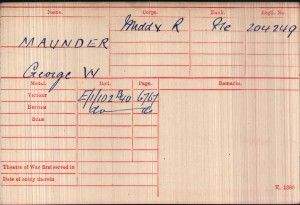 Medal Card.Maunder