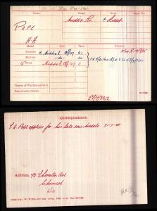 Medal Card.Pope HA