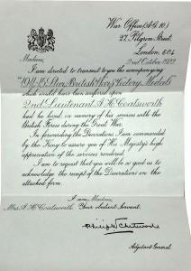 Medal Entitlement.Coatsworth