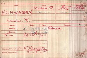 Medal card Schwben HR