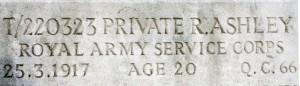 Memorial detail.Ashley