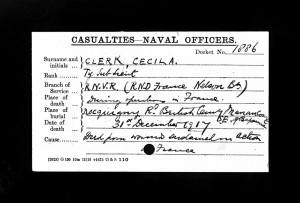 Naval Casualty Record.Clerk