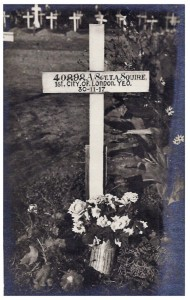Original Grave Marker.Squires