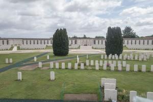 Passchendaele.Part of Tyne Cot Cemetery