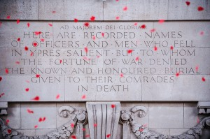 Poppies Falling From the Menin Gate, Ypres MOD 45156405