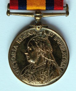 Queens S Africa Medal Obverse