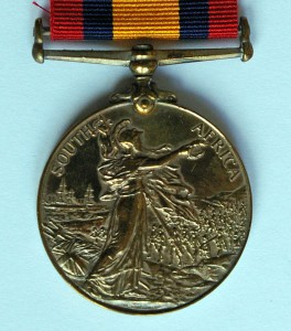 Queens South Africa Medal Reverse