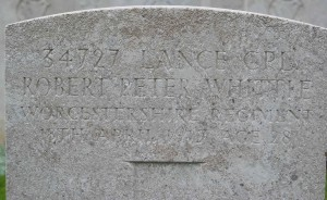 RPWhittle headstone detail