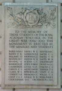 Royal Academy WW1 memorial