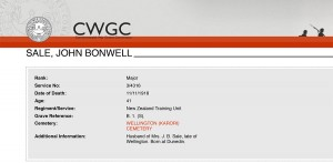 Sale.CWGC - Casualty Details