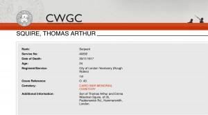 Squire.CWGC Details