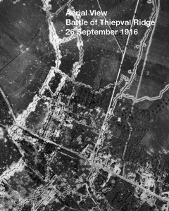Thiepval Ridge Aerial view1916