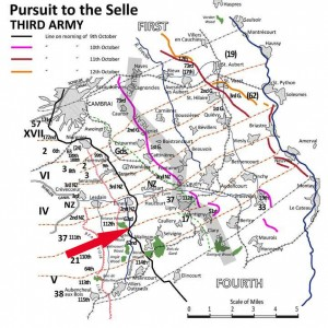 Third Army Pursuit to the Selle 9-12 Oct 1918