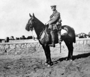 Tom Squire on Dommi, Egypt 1916 after returning from Gallipoli