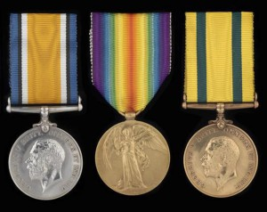 War Victory and Territorial War medals