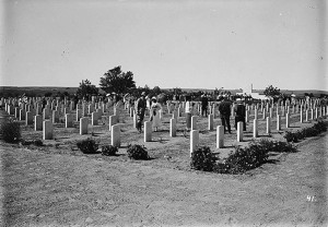 War cemetery at Deir el-Belah c1925