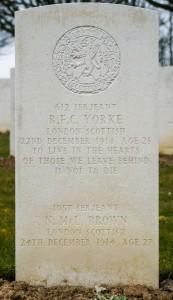 Yorke.Arras Road Roclincourt.Headstone